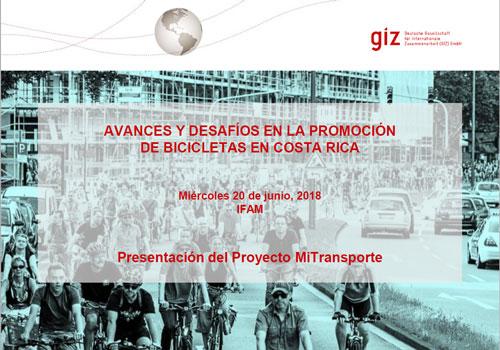 Taller avances y desafíos en la promoción de bicicletas en Costa Rica