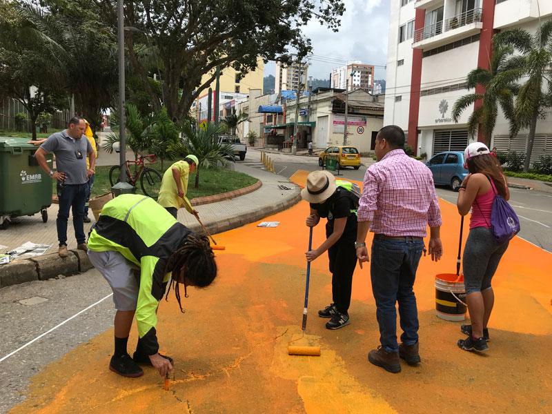 Tactical urbanism in Parque de los Niños, Bucaramanga